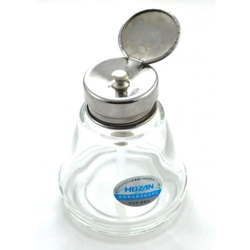 جا تینری شیشه ای نشکن مناسب برای نگه داری تینر ، الکل و مایعات فرار