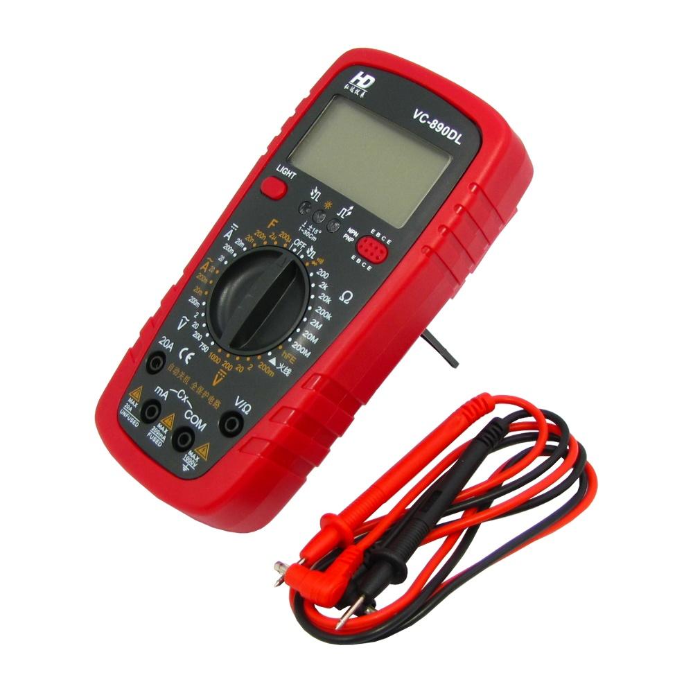 مولتی متر دیجیتالی HD VC-890DL دقیق و قابل حمل مناسب تعمیرات موبایل
