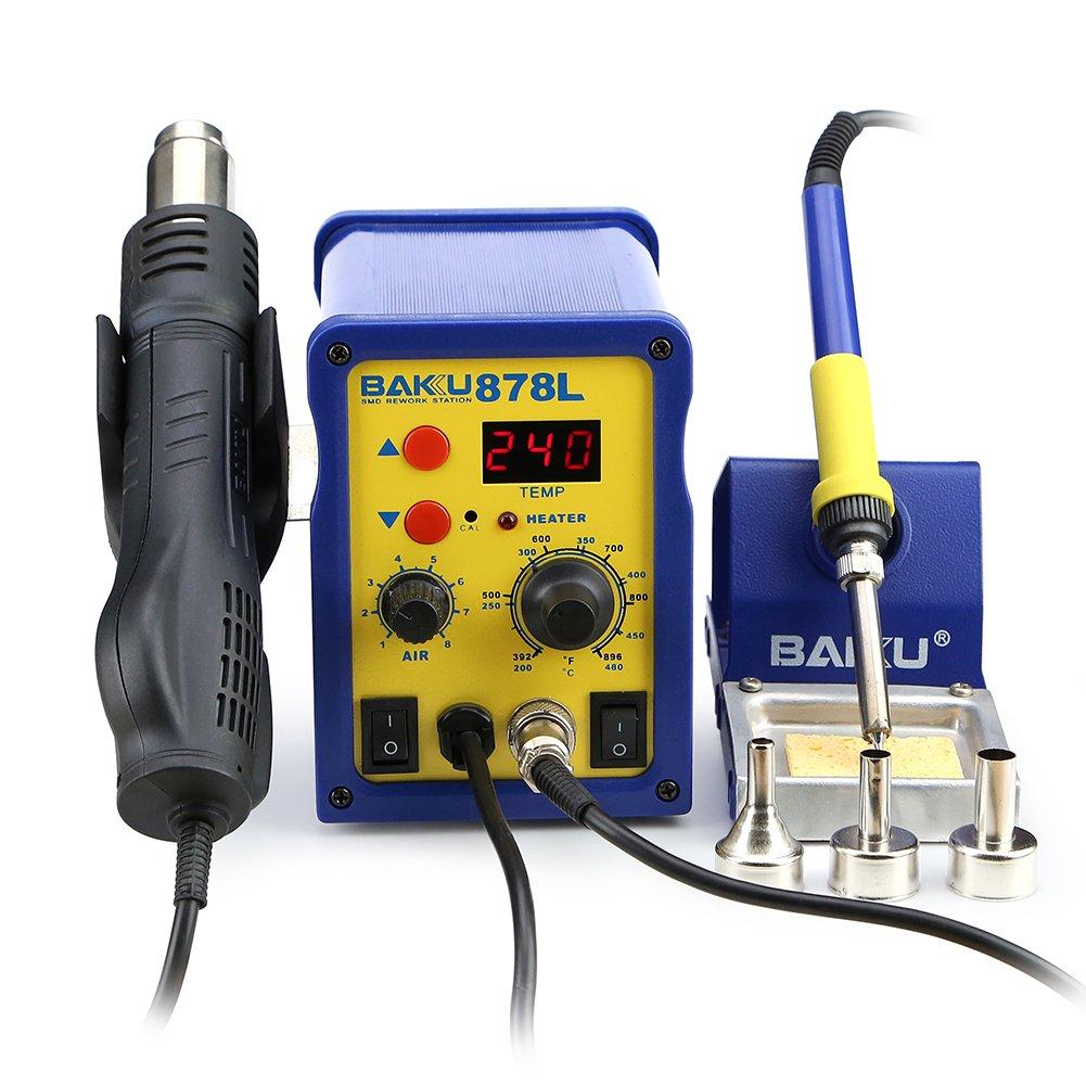 هیتر و هویه دیجیتال مدل baku 878L مناسب تعمیرات برد گوشی های موبایل