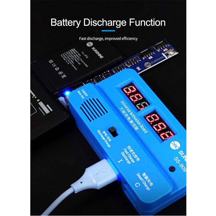 برد و کیت یونیورسال سانشاین Sunshine SS-909 مناسب تست ،شوک و شارژ باتری داخلی گوشی های موبایل