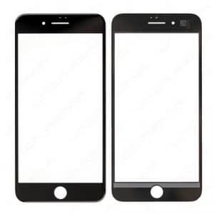گلس ایفون ۸ باچسب OCA و فرم(Black)