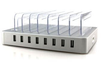 مولتی شارژر ۸ پورت SUNSHINE مناسب تعمیرات گوشی های موبایل