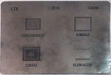 شابلون چند منظوره S5038 مناسب آی سی های برد گوشی موبایل سامسونگ S6 edge
