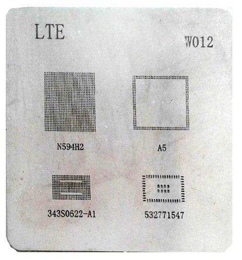شابلون W012 مناسب پایه سازی آی سی های برد آیپد 4 و گوشی موبایل آیفون 5