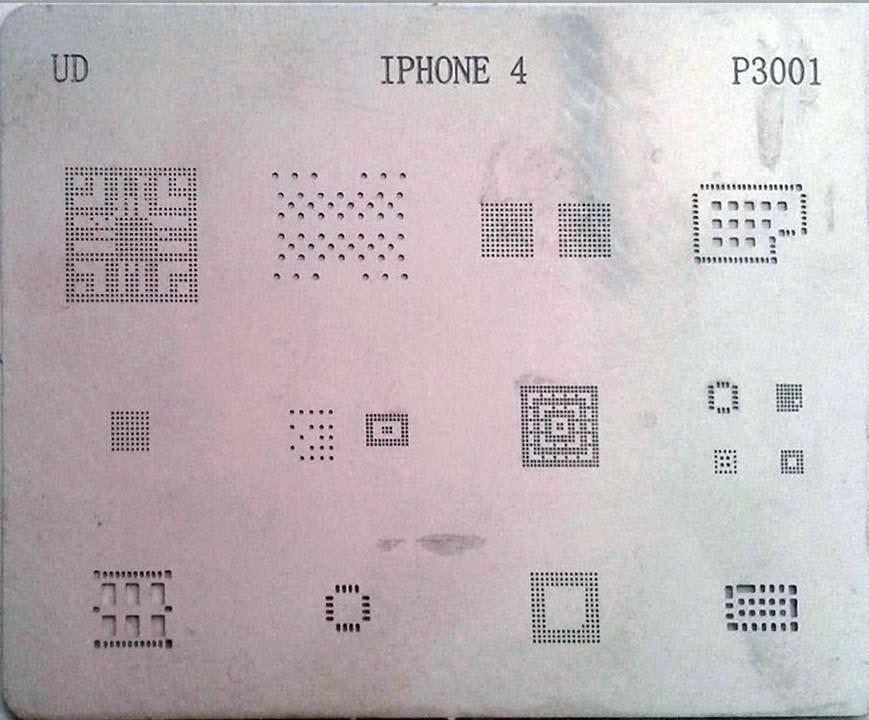 شابلون چند منظوره P3001 مناسب آی سی های برد گوشی موبایل آیفون ۴