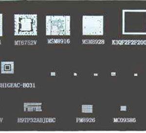 شابلون 26 تکه ای MTK A467 مناسب پایه سازی آی سی های برد گوشی موبایل