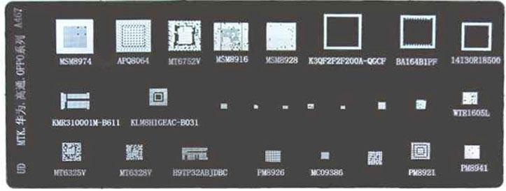 شابلون چند منظوره A467 مناسب پایه سازی آی سی های برد گوشی موبایل