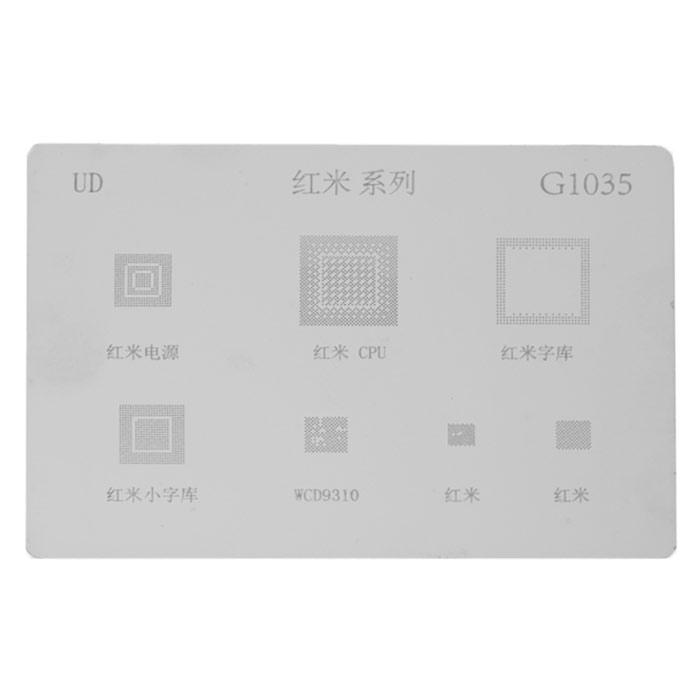شابلون چند منظوره G1035 مناسب آی سی های برد گوشی Xiaomi Hongmi