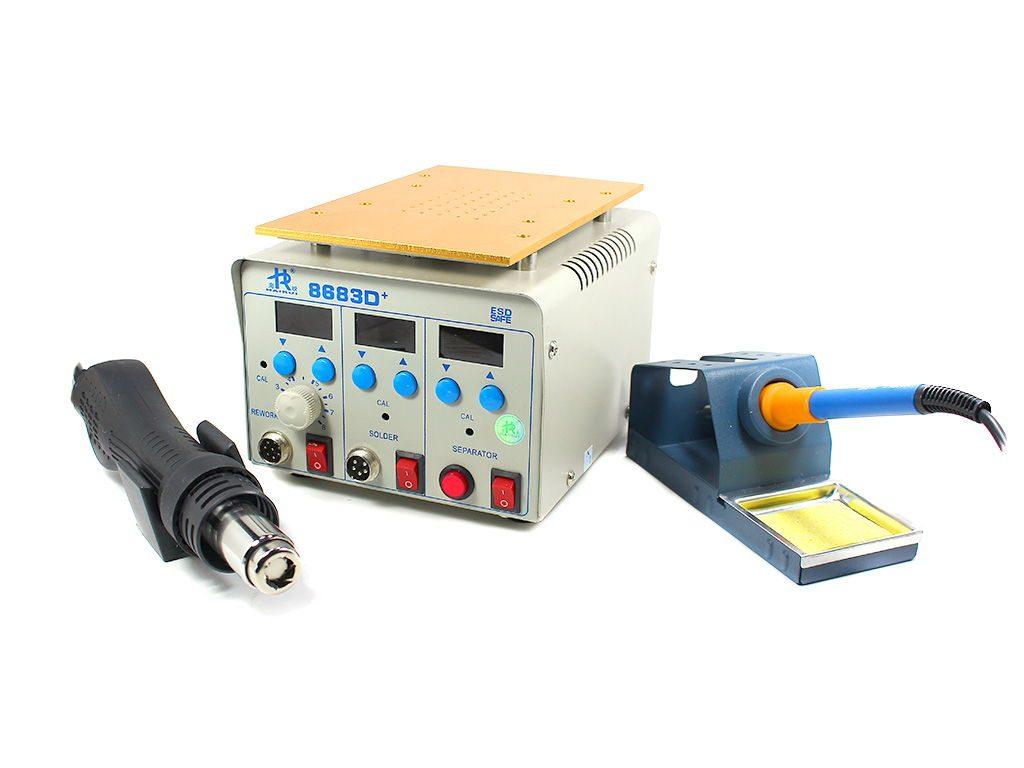 هیتر و هویه و جدا کننده HAIRUI 8683D مناسب تعمیرات گوشی موبایل