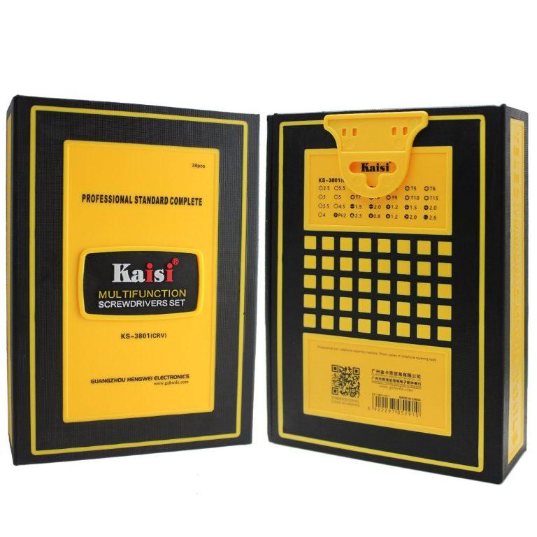 ست ابزار پیچ گوشتی چند منظوره 38 تکه KAISI KS-3801 تعمیرات موبایل