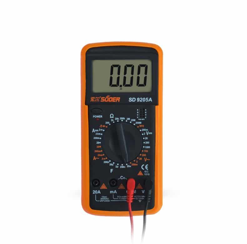 مولتی متر نیمه حرفه ای دیجیتالی SD مدل ۹۲۰۵A مناسب تعمیرات گوشی موبایل