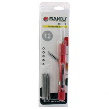 ست ابزار پیچ گوشتی چند منظوره ۱۲ در ۱ BAKU BK-312 تعمیرات موبایل