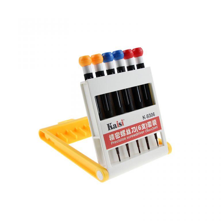 ست ابزار پیچ گوشتی دقیق KAISI K-9306 مناسب تعمیرات آیفون و مک بوک