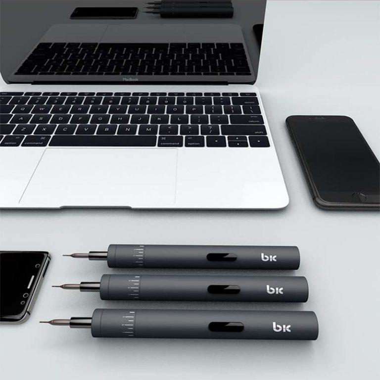 پیچ گوشتی شارژی TBK BK008 با چرخش قابل تنظیم تعمیرات موبایل و لپ تاپ
