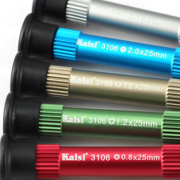 ست ابزار پیچ گوشتی ۵ در ۱ دقیق Kaisi 3106 مناسب تعمیرات گوشی موبایل