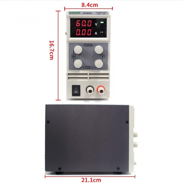 منبع تغذیه دیجیتالی 30 ولت 5 آمپر WANPTEK KPS305D مناسب تعمیر موبایل