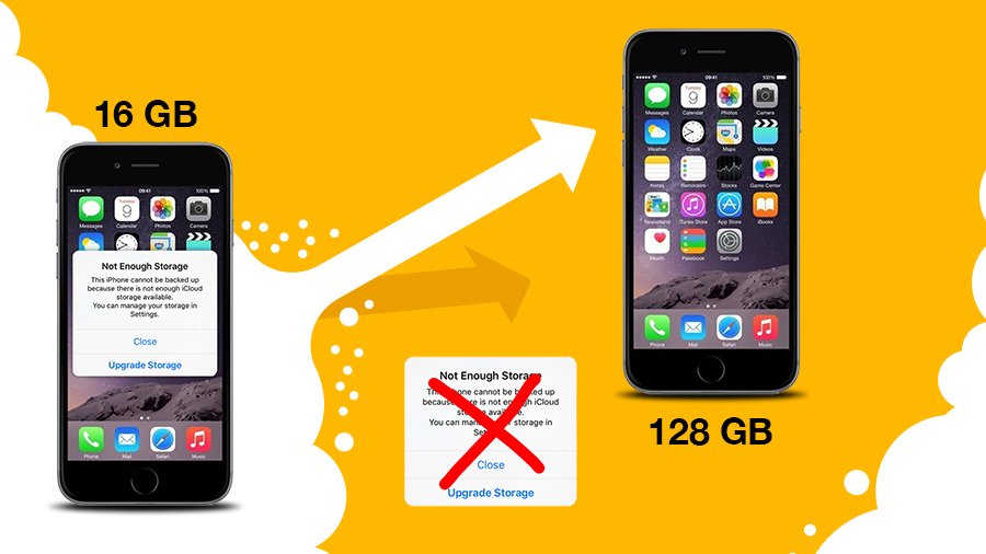 افزایش ظرفیت حافظه گوشی موبایل ایفون