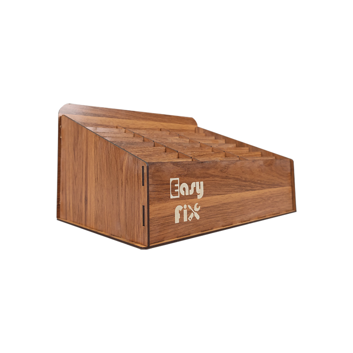 استند و قفسه چوبی کوچک EASYFIX مناسب نگه داری گوشی های موبایل