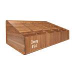 استند و قفسه چوبی بزرگ EASYFIX مناسب نگه داری گوشی های موبایل و تبلت