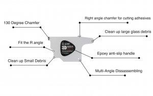 ابزار QianLi 3D Screen Disassembler مناسب جداسازی ال سی دی موبایل