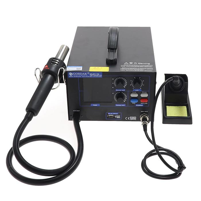 هیتر و هویه گرداک GORDAK 952H دارای پورت USB و مناسب تعمیرات برد گوشی موبایل