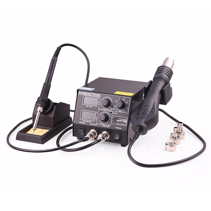هیتر و هویه گرداک GORDAK 868D مناسب مونتاژ و لحیم کاری برد موبایل