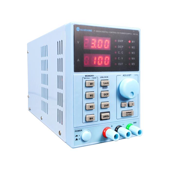 منبع تغذیه سانشاین مدل Sunshine P-3005A مناسب تست جریان کشی موبایل