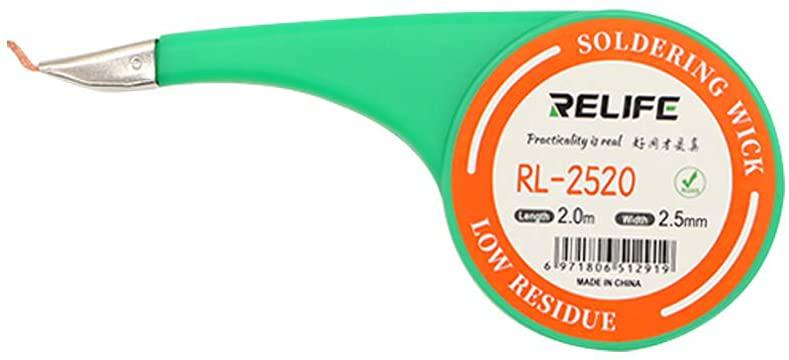 سیم قلع کش RELIFE RL-1520 مناسب جدا کردن قلع از برد گوشی های موبایل