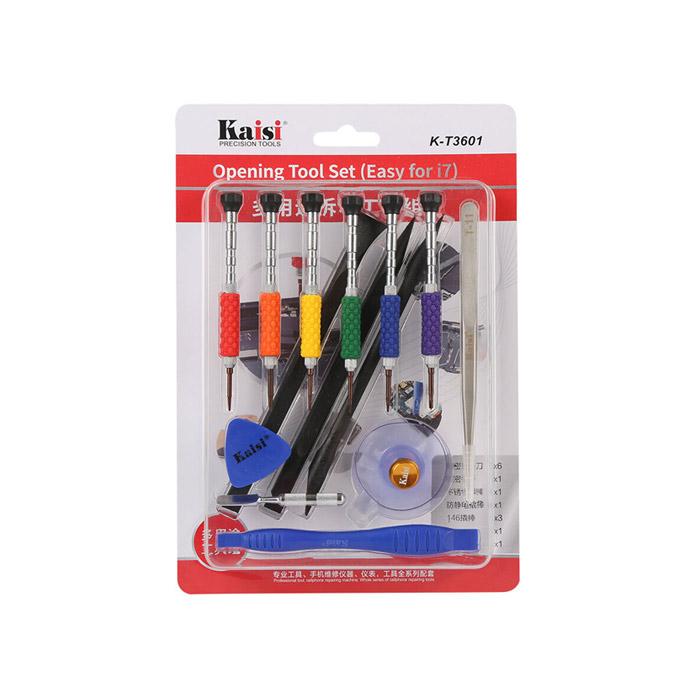 ست ابزار پیچ گوشتی چند منظوره ۱۴تکه KAISI K-T3601 تعمیرات گوشی ایفون