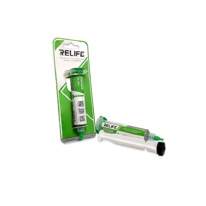 خمیر قلع پمپی Relife مدل RL-403 مناسب تعمیرات برد گوشی های موبایل