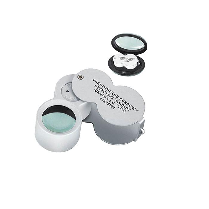 ذره بین چشمی با لامپ LED ال ای دی مناسب تعمیرات موبایل