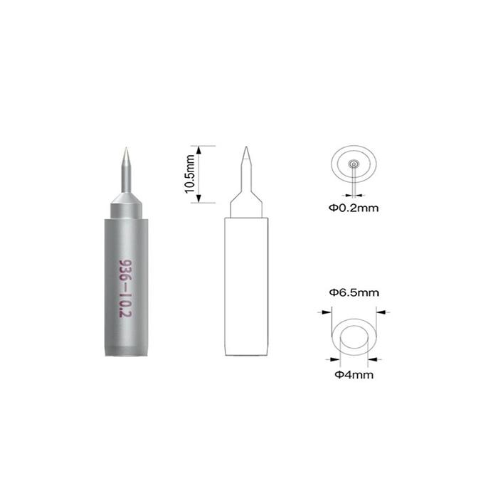 نوک هویه سر صاف Qianli 936-l 0.2 کیانلی مناسب لحیمکاری و تعمیرات موبایل