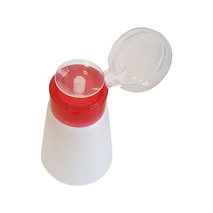 جا تینری  فشاری پلاستیکی مدرج مناسب نگهداری تینر، الکل