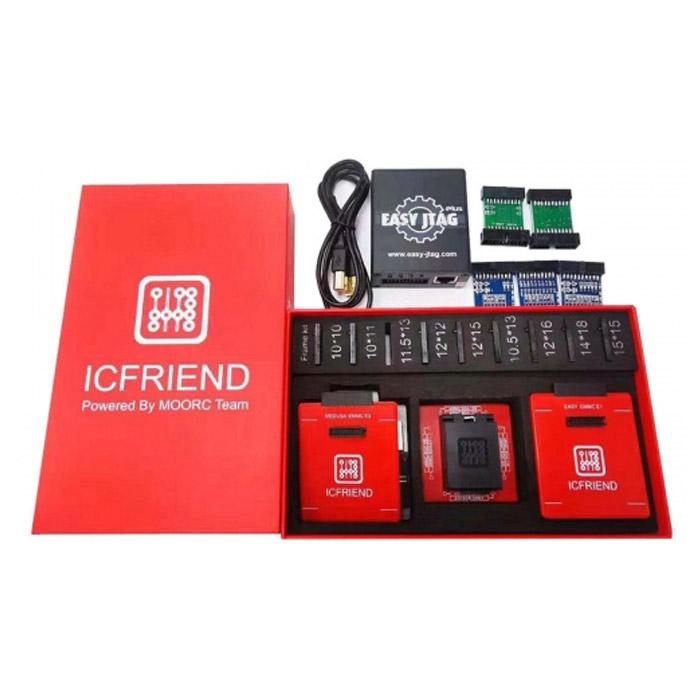 باکس Easy JTAG Plus به همراه آداپتور ۱۳ کاره ICFRIEND