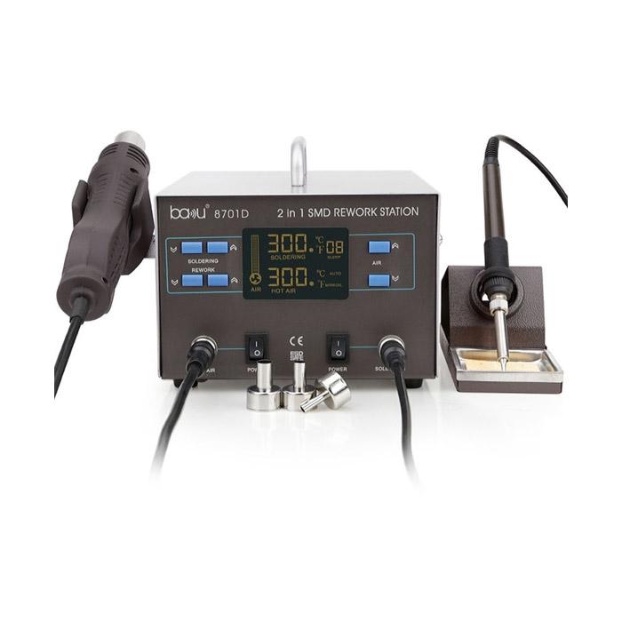 هیتر و هویه دیجیتال BAKU ba-8701D مناسب تعمیرات و لحیم کاری برد گوشی های موبایل