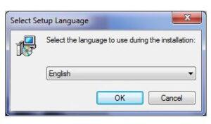 مرحله ی انتخاب زبان