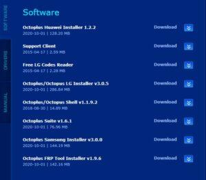 لیست نرم افزارهای اکتوپلاس