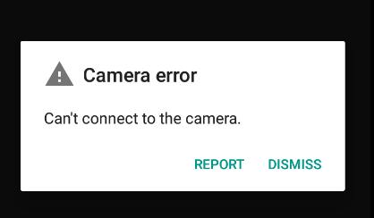 مشکل کار نکردن دوربین