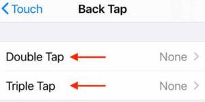 قابلیت بک تب Back Tab در آیفون ios 146