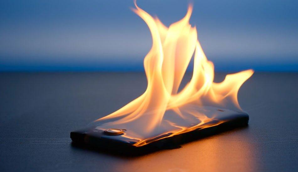داغ شدن گوشی ال جی