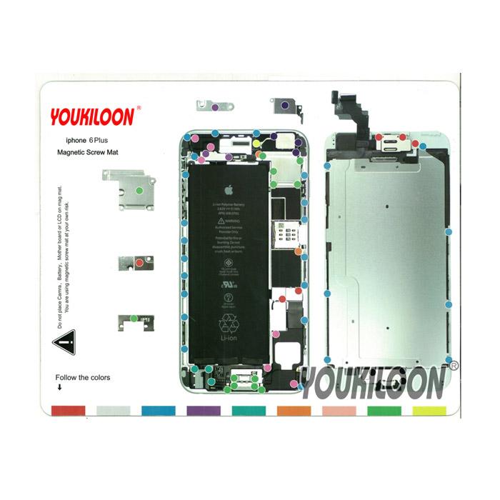 پد مغناطیسی Youkiloon iphone 6 PLUS مناسب مدیریت جای پیچ ها در تعمیرات ایفون
