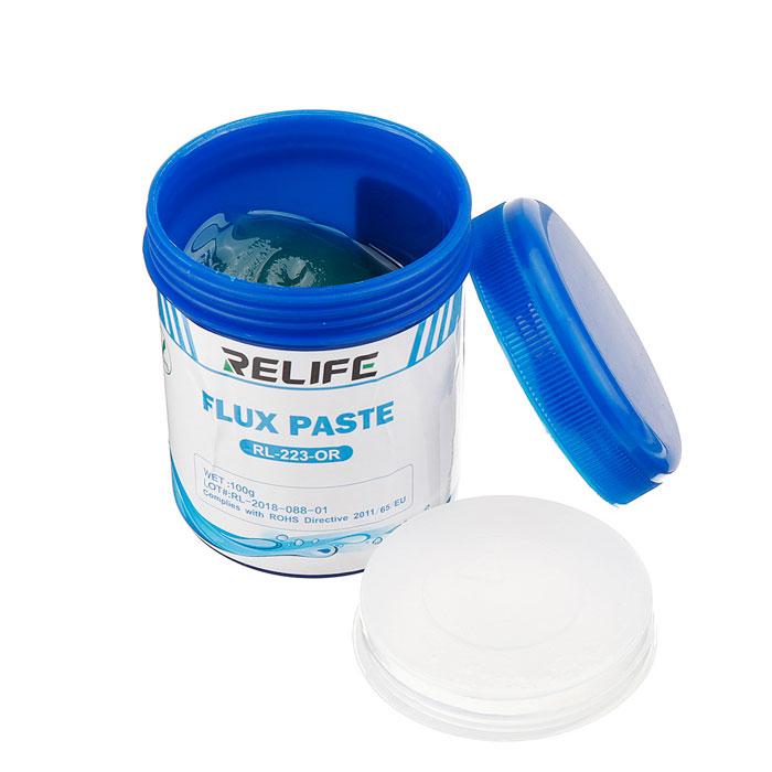 روغن و خمیر فلکس ریلایف Relife RL-223 OR مناسب جدا کردن قطعات برد گوشی موبایل