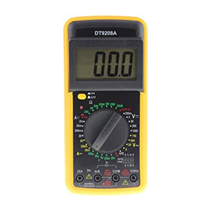مولتی متر دیجیتال Digita 9208a مناسب جهت استفاده در تعمیرات موبایل