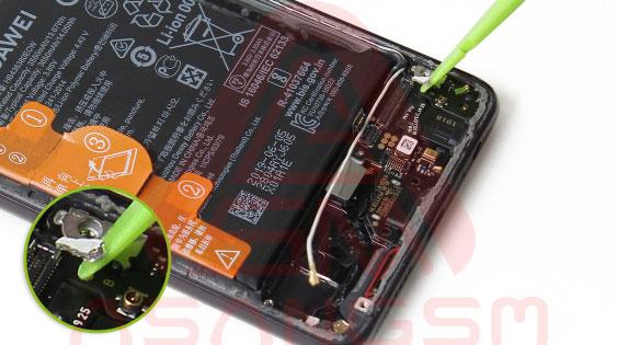 آموزش تعویض سیم آنتن Wifi هواوی P30 مرحله 3-19