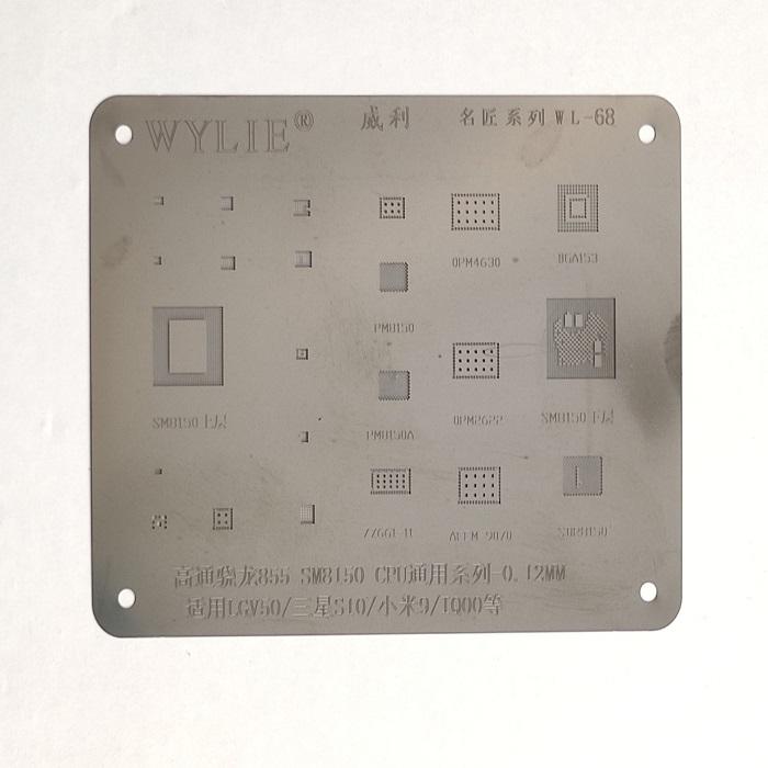شابلون مشکی WYLIE WL-68 مناسب ریبال کردن آی سی های برد گوشی موبایل