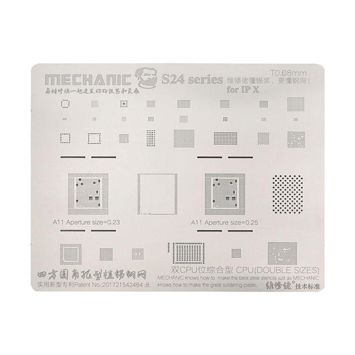 شابلون مکانیک MECHANIC S24 iPhone X مناسب تعمیرات گوشی آیفون ایکس