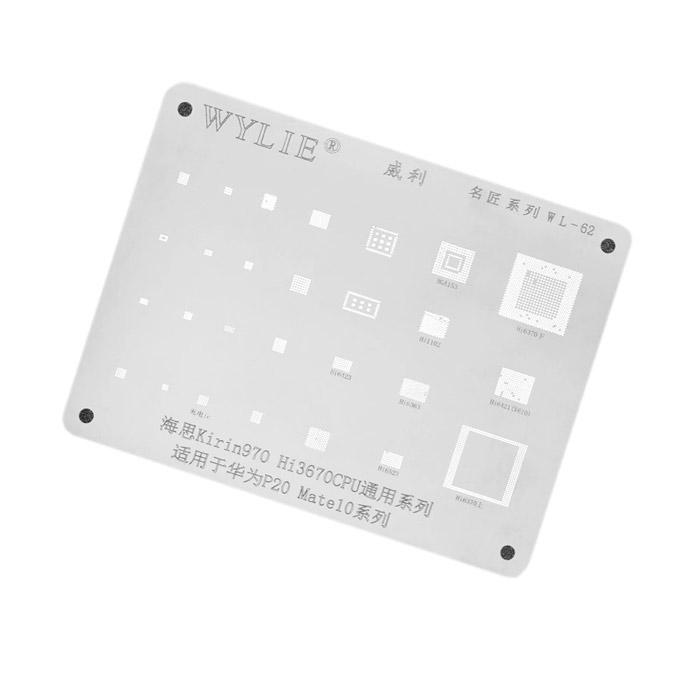 شابلون WYLIE WL-62 مناسب ریبال کردن آی سی گوشی های هواوی