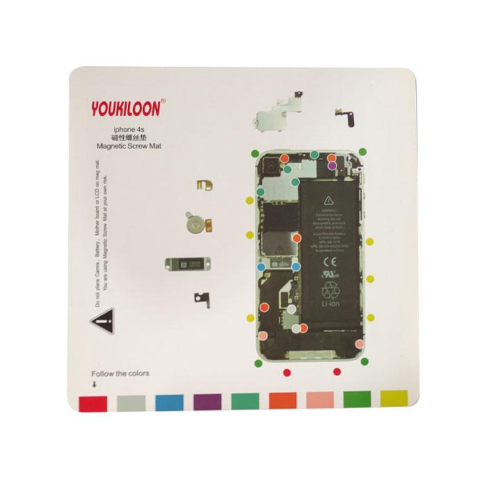 پد مغناطیسی ایفون Youkiloon Iphone 4S مناسب مدیریت جای پیچ ها در تعمیرات ایفون