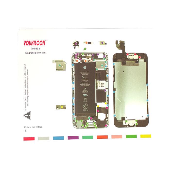 پد مغناطیسی Youkiloon iphone 6 مناسب مدیریت جای پیچ ها در تعمیرات ایفون