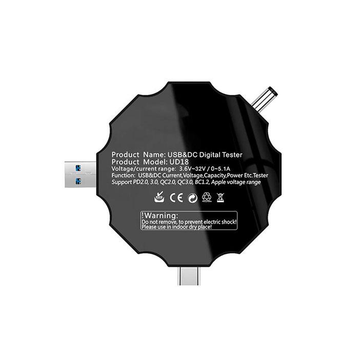 تستر شارژر مدل Atorch UD18 مناسب انجام تست ولتاژ